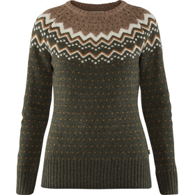 Fjällräven Övik Stricksweater Damen deep forest